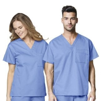 Wonderwork unisex v neck scrub top