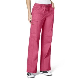 WonderFlex WW5108 Womens Multi-Pocket Cargo Scrub Pants With Lots of Pockets