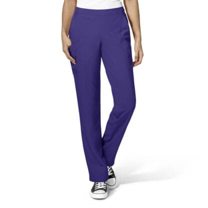 Womens Flat Front Cargo Stylish Medical Scrubs Trousers