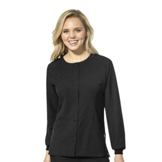 W123 Womens Crew Neck W8155 Warm Up Scrub Jacket Womens