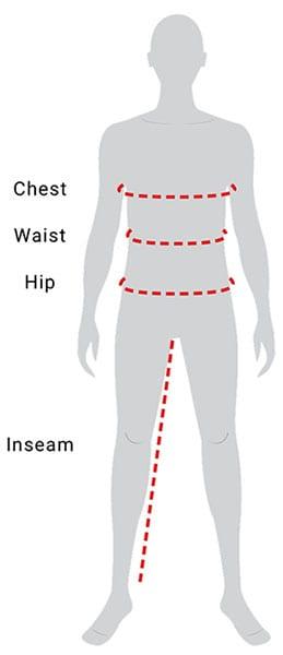 Mens Size Guide Measurements