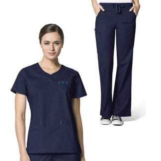 Wonderwink navy blue scrubs set